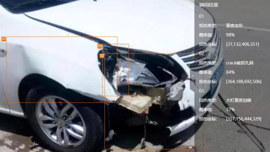 「定損宝」の画像AIはアリババDAMOアカデミーで開発された技術を応用している(出典:阿里云)