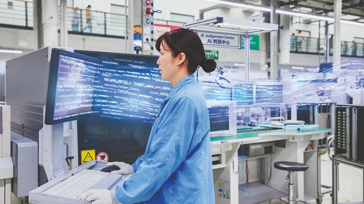 自動工学検査システムにAIを利用する様子(出典:https://www.bosch.com.cn/)