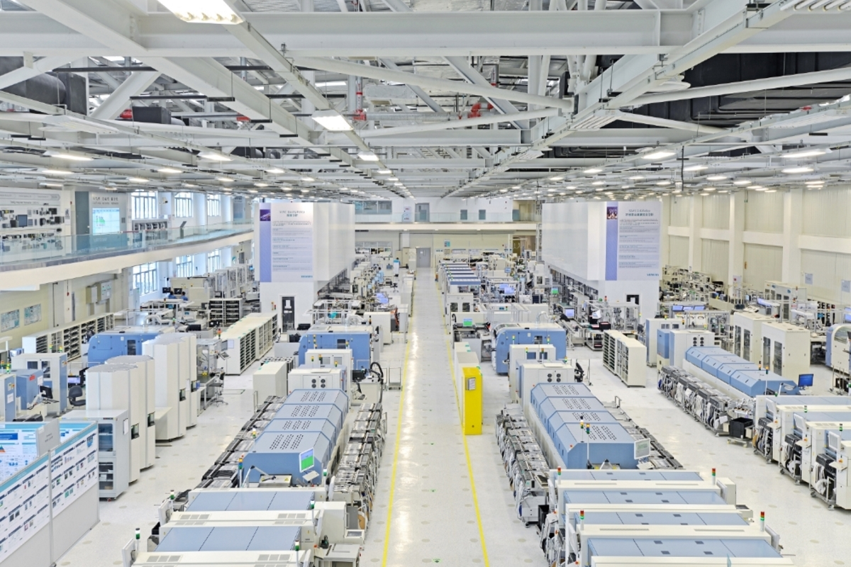 シーメンス成都デジタル工場の様子(出典:シーメンス中国プレスリリース)