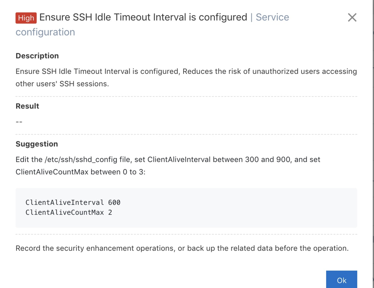 Alibaba Cloud Security Center Risk resolution