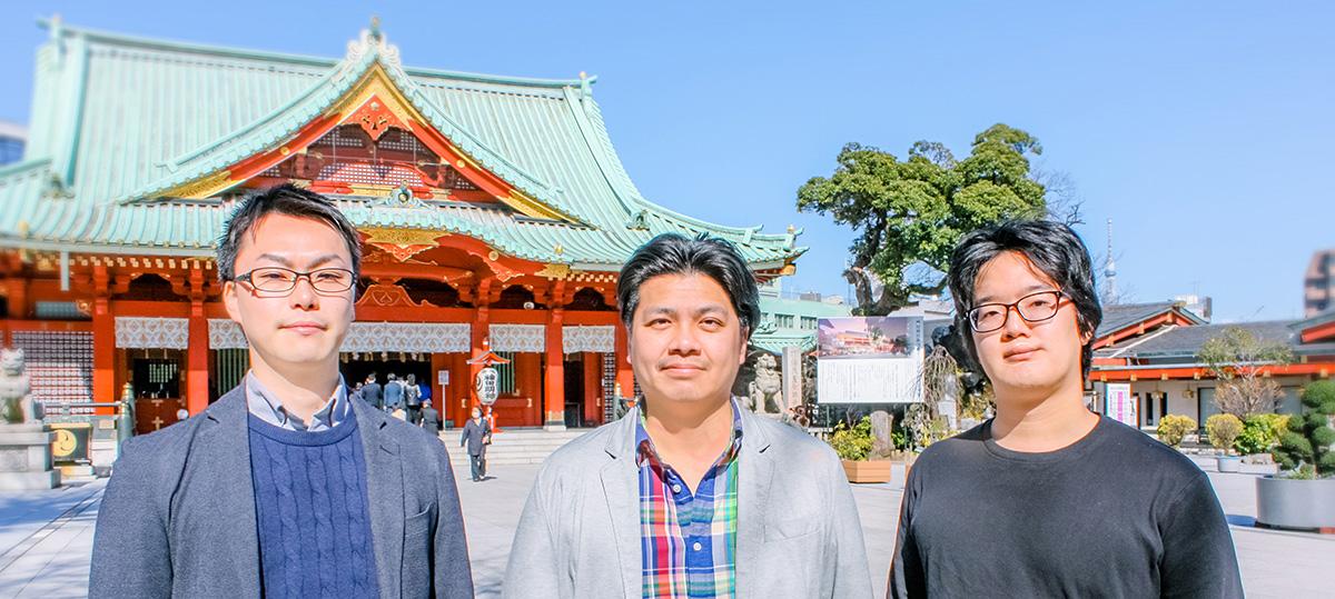 左から、otomo株式会社取締役COO北川朝輝氏、代表取締役CEO平塚雄輝氏、取締役CTO末並晃氏