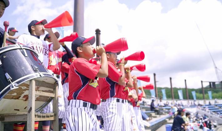中田中学校の熱い声援