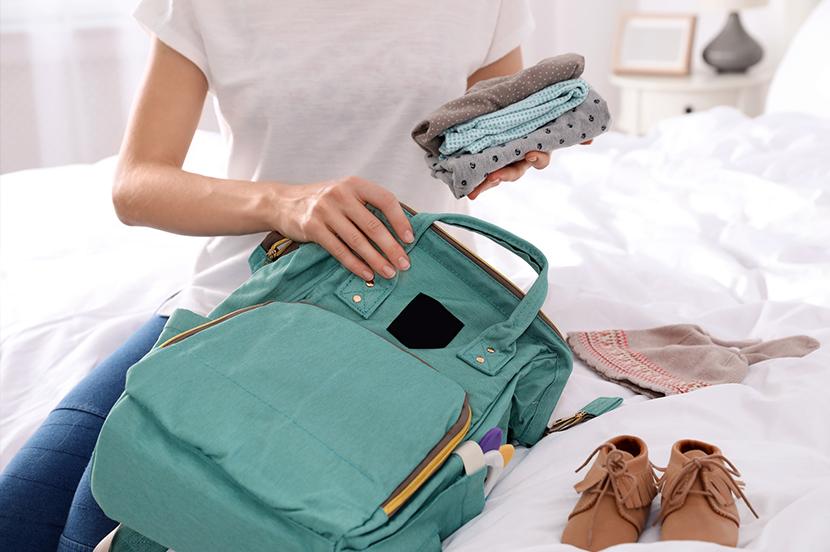 赤ちゃんのいるご家庭は、マザーズバッグをいつも準備万端に