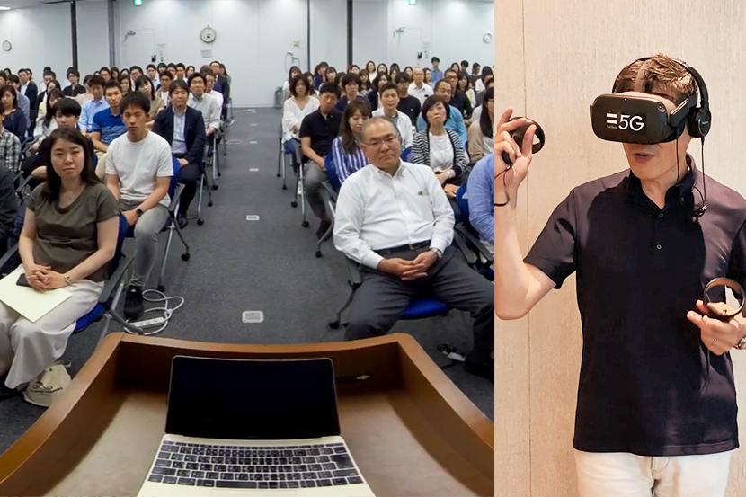 拍手の量で自分のプレゼンスキルが分かる! VRで学ぶプレゼンテクニック