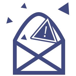 不審なメールを開かない