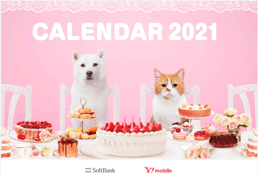 地球に優しい「ポリ乳酸」を使った2021年カレンダーが完成。テーマは「スイーツ」、かわいいシールも付いています!
