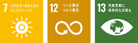 SDGsの達成に向けたマテリアリティ「テクノロジーのチカラで地球環境へ貢献」