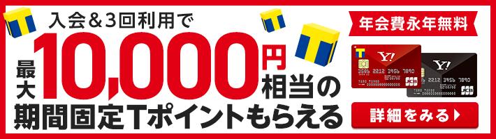Yahoo! JAPANカード 新規ご入会&利用で最大10,000円相当の期間