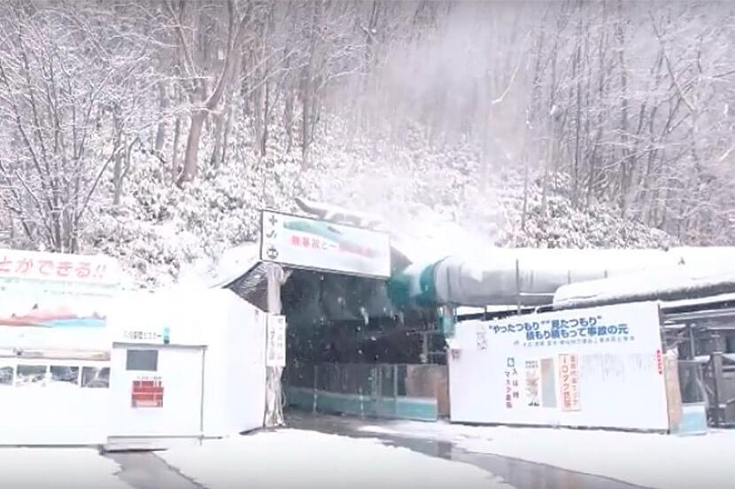 実証実験を行ったトンネル工事現場(北海道)