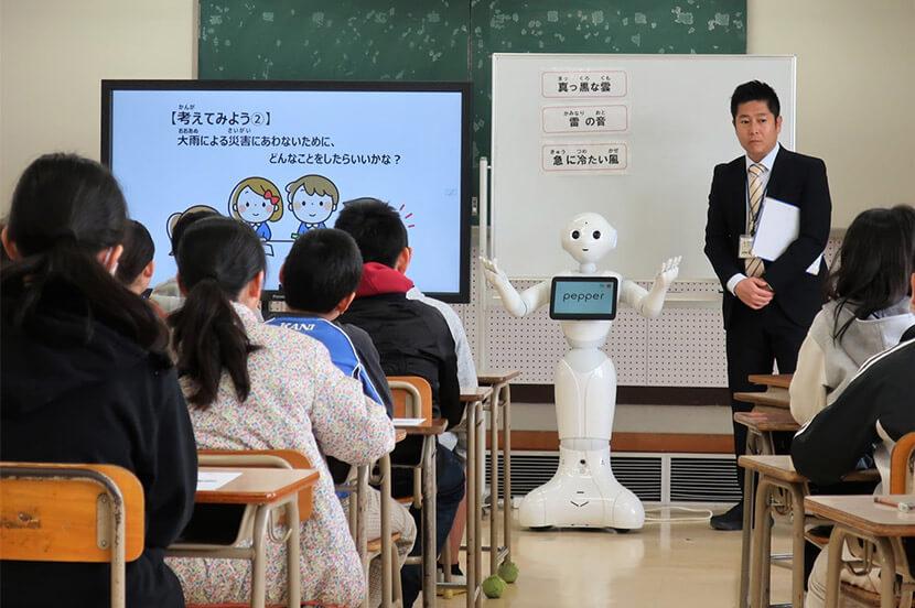 Pepperで子どもたちの防災意識を高める プログラミングツールを使った防災授業(福岡県飯塚市)