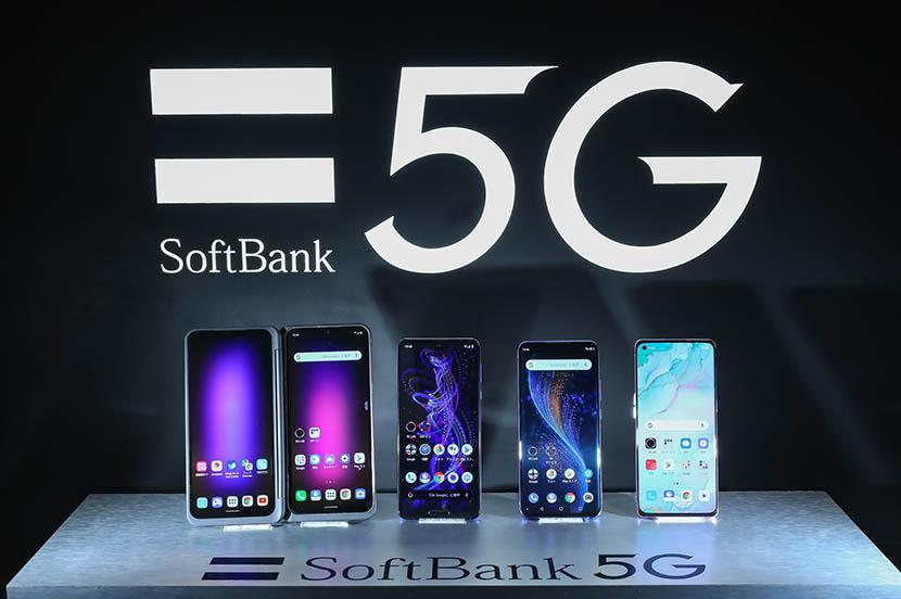 左から「LG V60 ThinQ 5G」「AQUOS R5G」「ZTE Axon 10 Pro 5G」「OPPO Reno3 5G」