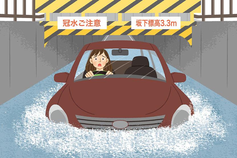 外出中、大雨・集中豪雨で道路が冠水…。災害時の対策と事前の備え -防災行動ガイド