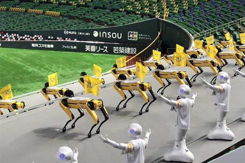 ロボット応援団がパワーアップ! PepperとSpotがコラボダンスでホークスを応援します