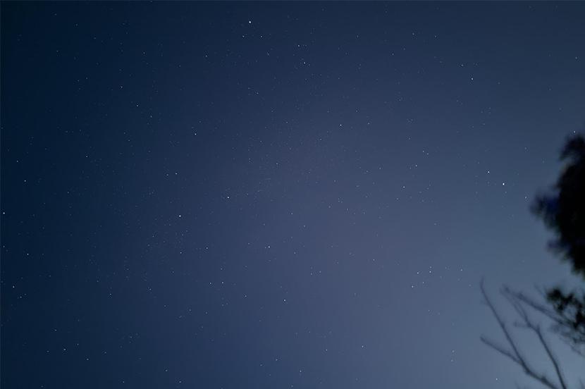 夜空がキレイ〜