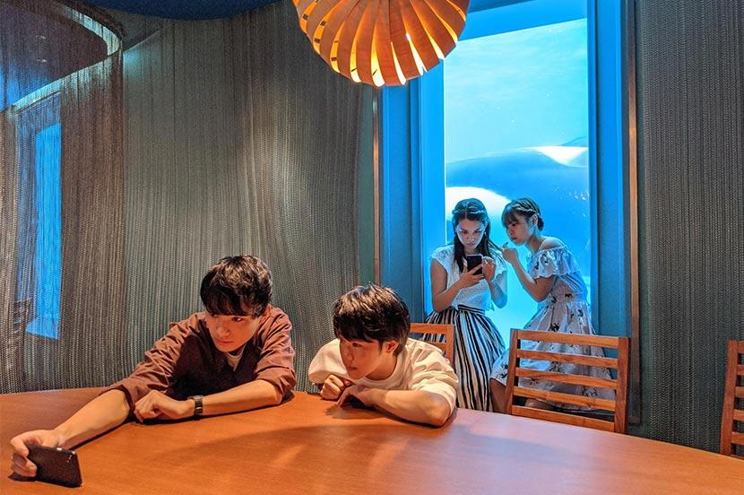 シャチの見えるレストラン