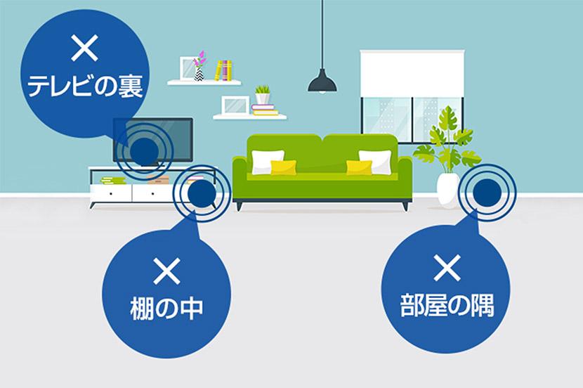 SoftBank Air(ソフトバンクエアー)は電波干渉を避ける場所に設置。家電の近くは避けましょう