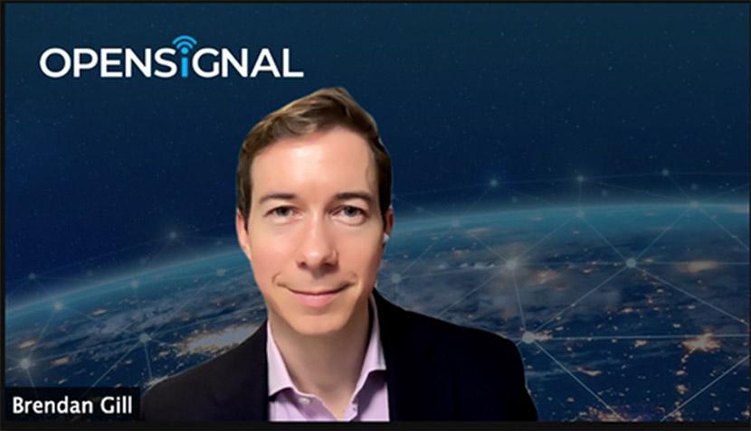 オンラインで祝辞を述べたOpensignal CEOのブレンダン・ジル氏