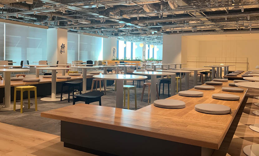 人と繋がり、コミュニティーを育む。竹芝の本社ビルが目指す新たな社員食堂のカタチ