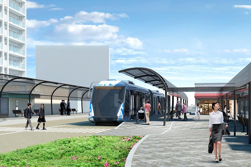 持続可能な地域交通の実現に向けて。JR西日本とソフトバンクが「自動運転・隊列走行BRT」の実証実験を開始