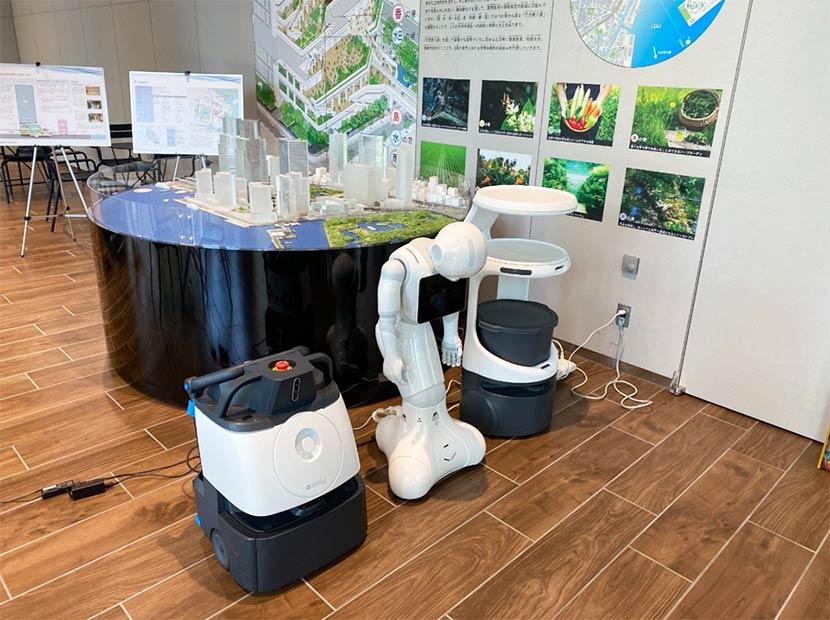 スマートビルで働くロボットを電力システムに利用