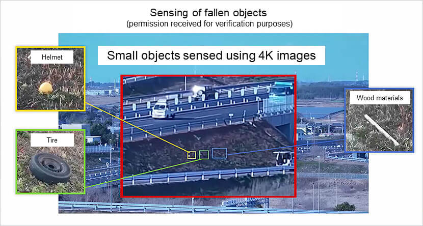 Experiment to detect small falling objects using 4K video | Making Highways Smart with 5G Technology