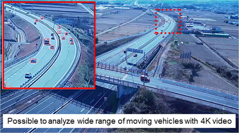 Experiment using 4K video to detect the speed of moving vehicles | Making Highways Smart with 5G Technology