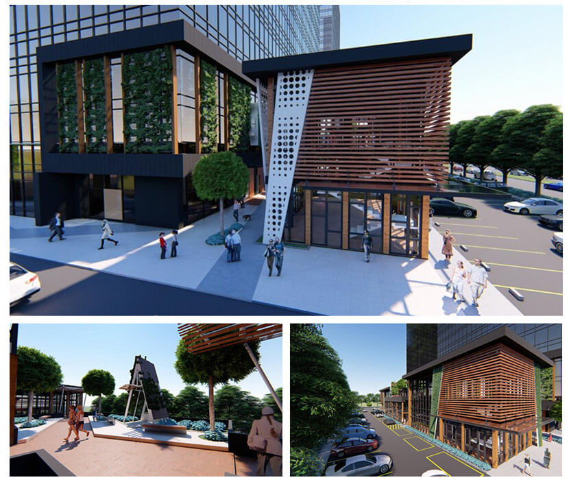 """Images of Millennium Village, a central business district project in Lippo Village  