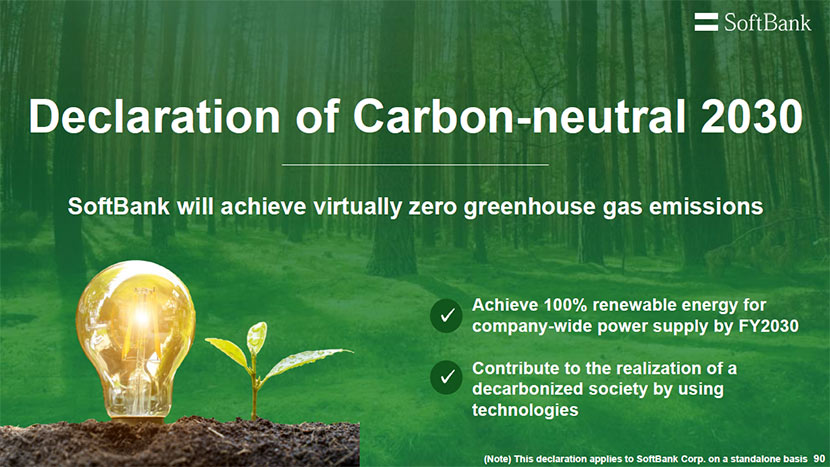 Pledging to help realize a decarbonized society