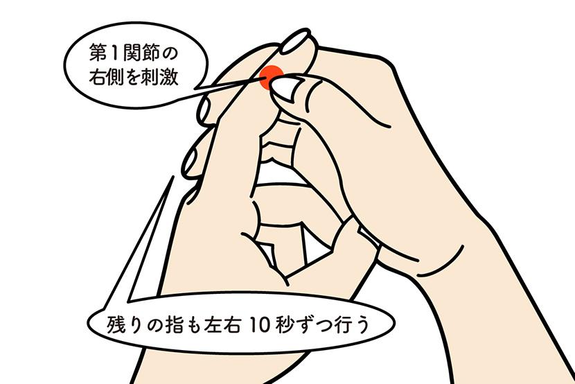 スマホのNGな持ち方で起きる病気。指の第1関節を刺激する「10秒神経マッサージ②」