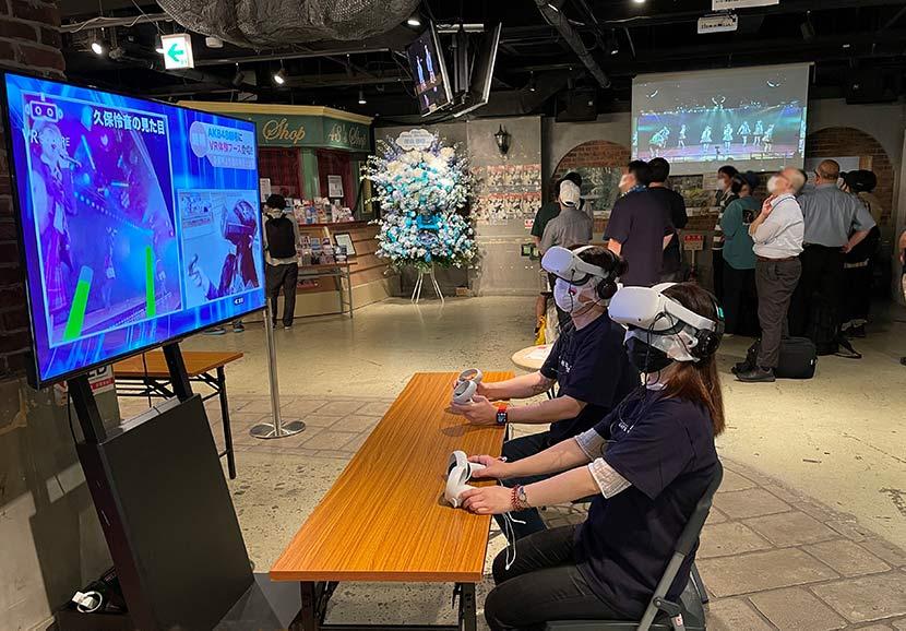 VR体験は対象公演のキャンセル待ちの方の中から先着2名が体験可能