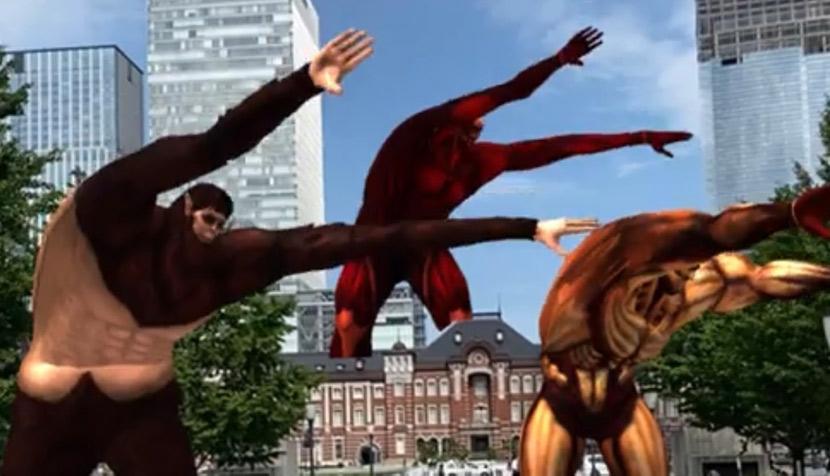 『進撃の巨人』が東京駅でラジオ体操!? アート制作の裏話も