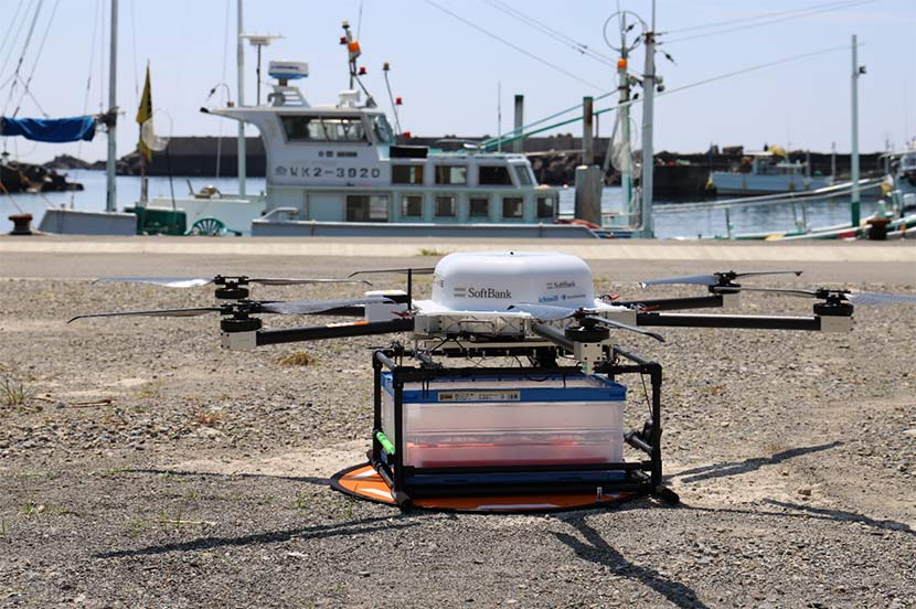 SoftBank's Autonomous and Precision-controlled Drone Helping to Revitalize Local Fishing Industry and Tourism