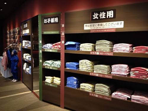 大江戸温泉物語 伊勢志摩の浴衣貸し出しコーナー画像