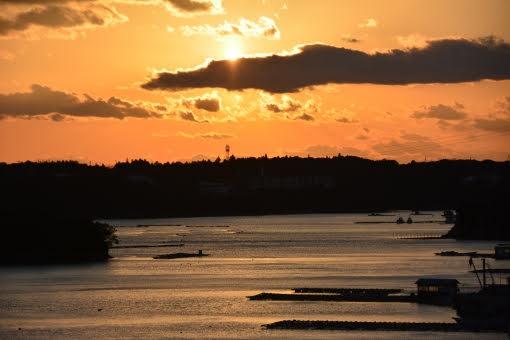 伊勢・志摩の海の夕景画像