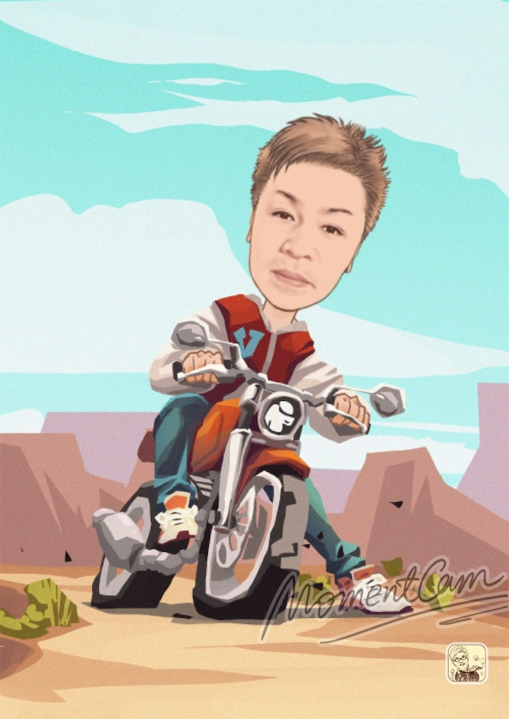 sceneのバイクに乗ったキャッチ画像