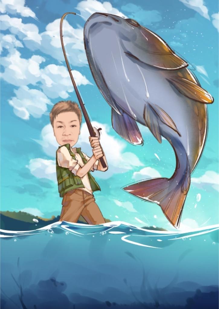 sceneの釣りをしているキャッチ画像
