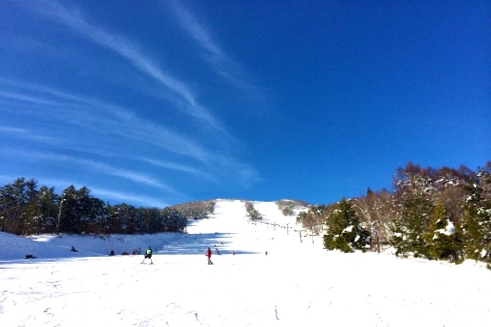 スキー場のゲレンデの画像