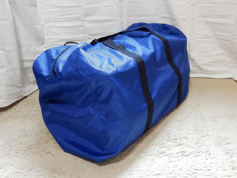 大型トートバッグ ブルー