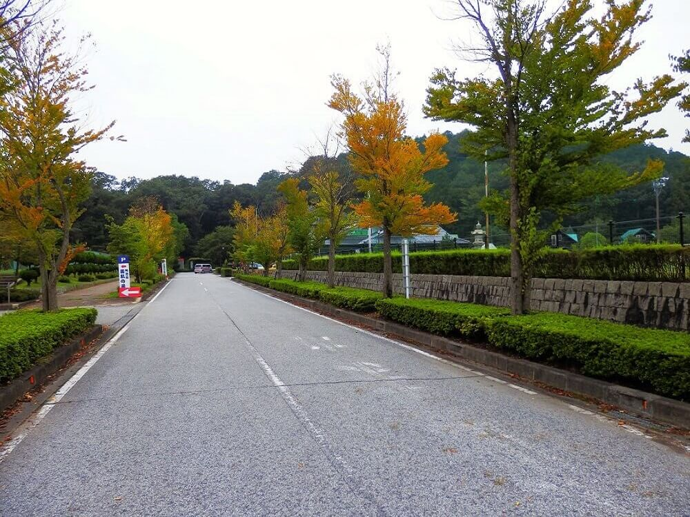 グリーンパーク山東の第2駐車場の入り口