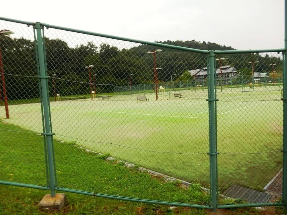 グリーンパーク山東のテニスコート
