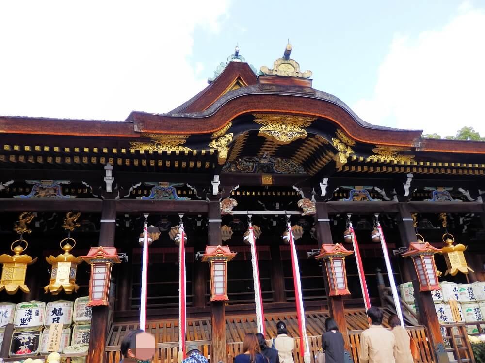 京都の北野天満宮の本殿