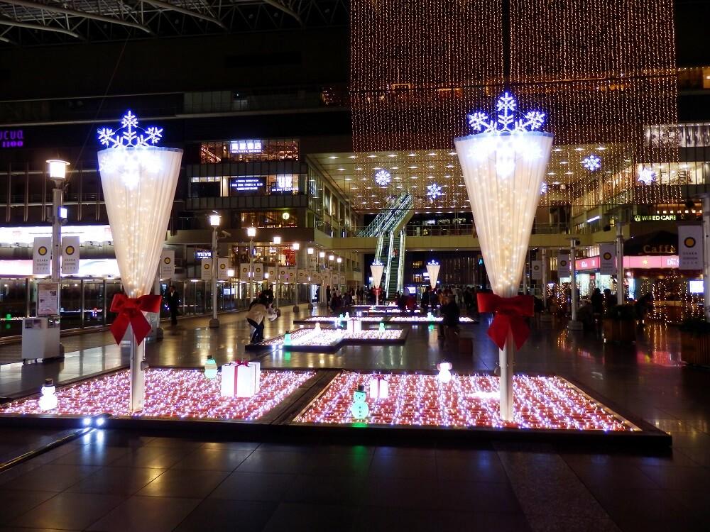 大阪ステーションシティ5階のクリスマスイルミネーション