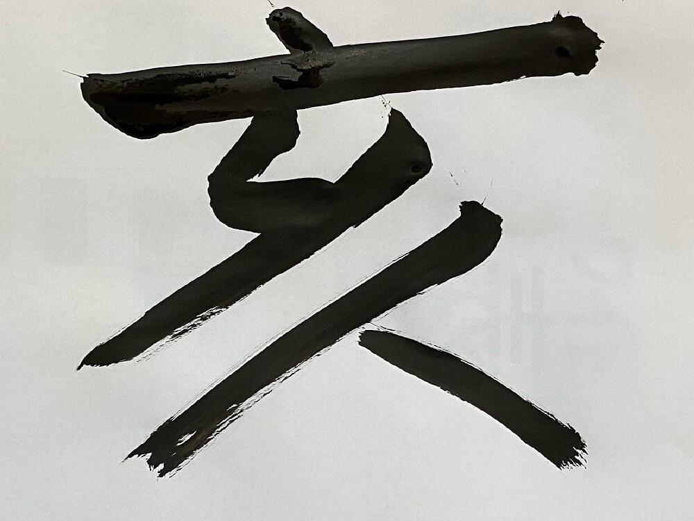 習字で書いた亥年の文字