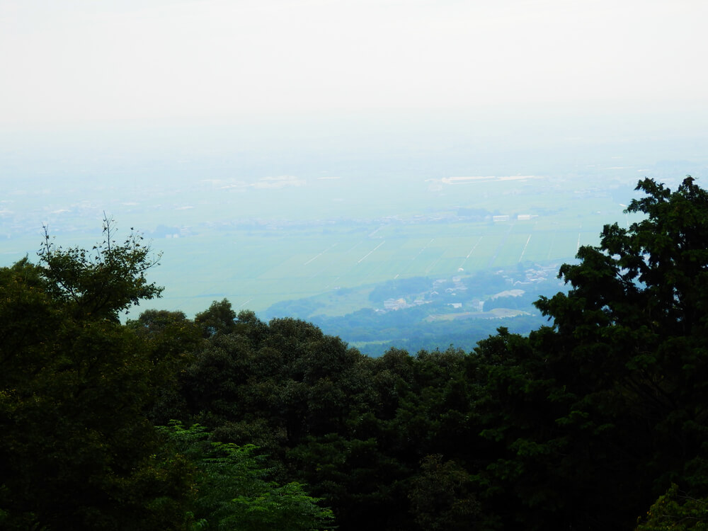 養老の滝の遊歩道からの濃尾平野の眺望