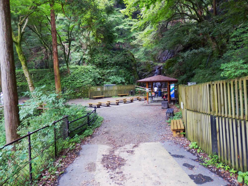 岐阜県の養老の滝のエリアへの入口
