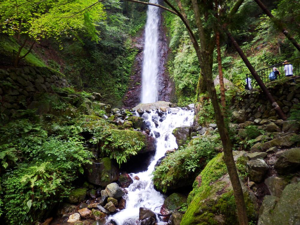 岐阜県の養老の滝を少し下から眺める
