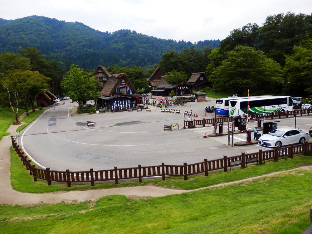 白川郷合掌村のせせらぎ公園駐車場