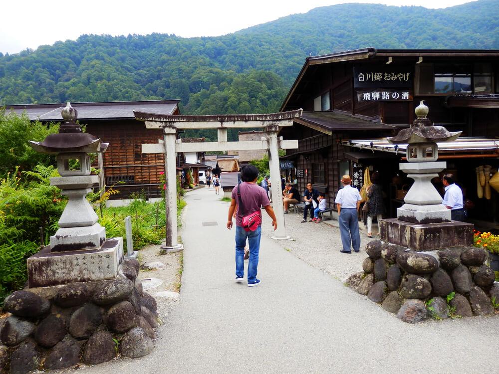 白川郷合掌村の秋葉神社の鳥居