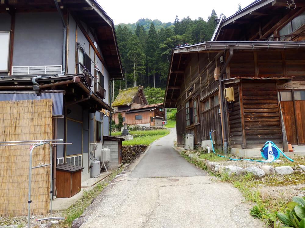 白川郷合掌村の現住民が居住している建物