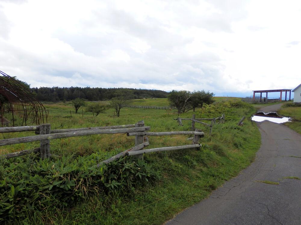 高ボッチ高原牧場入口
